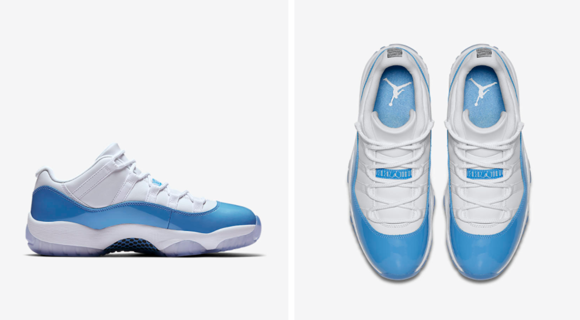 "a64fabade47 15th of April release – Air Jordan XI Retro Low ""University Blue   Columbia"""